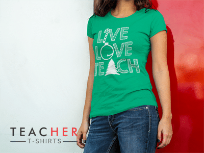 Cute Christmas Teacher T-shirt