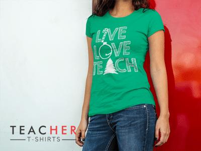Cute Christmas Teacher T-shirt