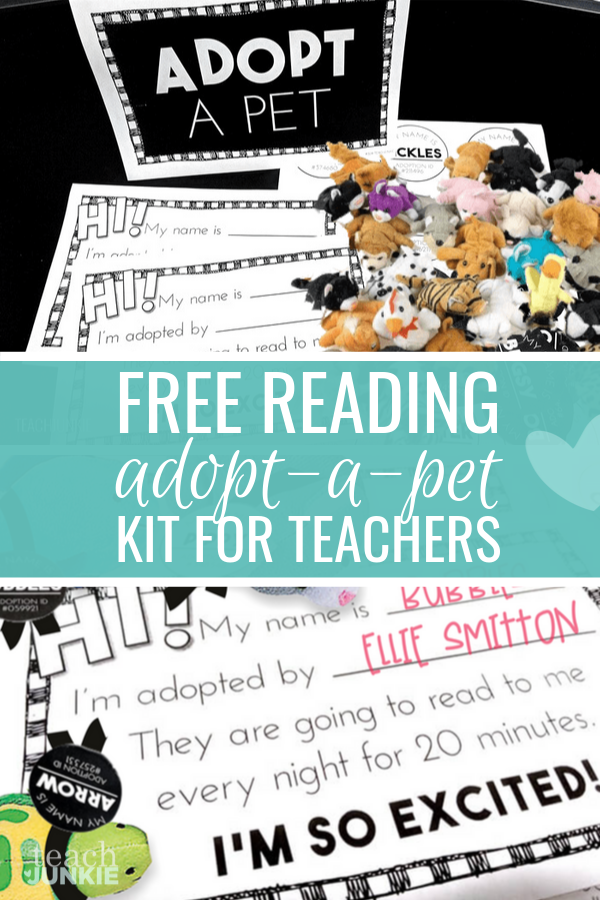 Cute Adopt-a-Pet Reading Kit to Encourage Your Students to Read at Home