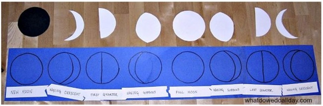 21 Super Activities for Teaching Moon Phases - DIY Moon Phase Puzzle