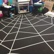 DIY Spider Web Rug for Halloween