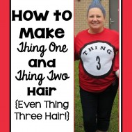 How to Make DIY Dr. Seuss Thing 1 and Thing 2 Hair