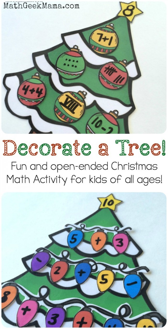Decorate a Christmas Tree Number Sense Activity Math - Teach Junkie
