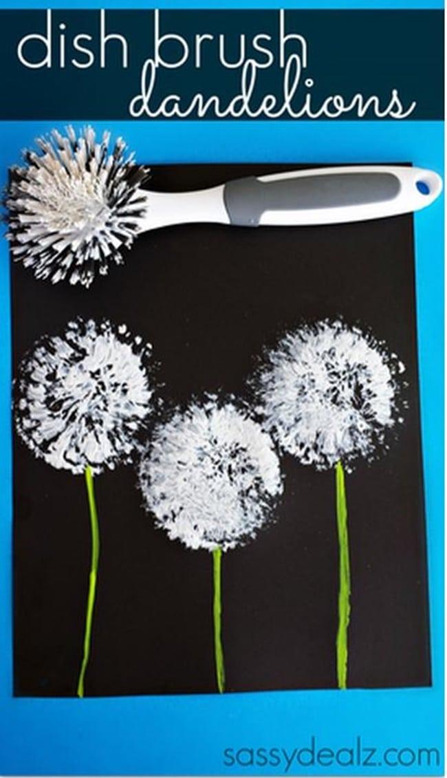 Super Easy Dandelion Art Project - Teach Junkie