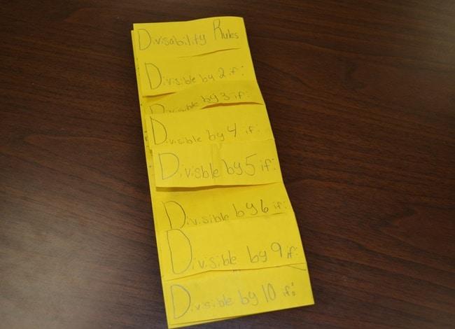 DIY Foldable - Divisibility Rules - Teach Junkie