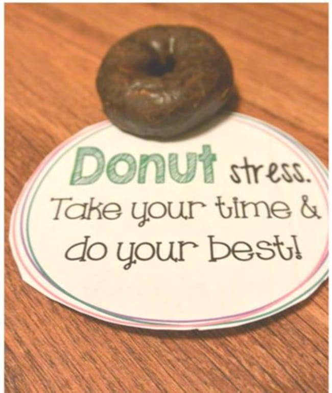Standardized Testing - 12 Ways To Brighten Testing Time - Donut Stress - Teach Junkie