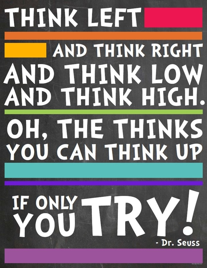 Dr. Seuss Quotes {Printable} The Thinks You Can Think