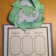 Free Earth Day Craft: Reduce, Reuse, Recycle