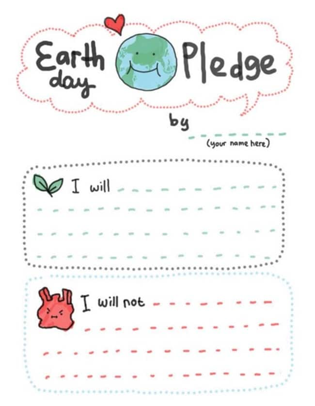 10 Teacher Friendly Earth Day Go-To Activities - Earth Day Pledge - Teach Junkie