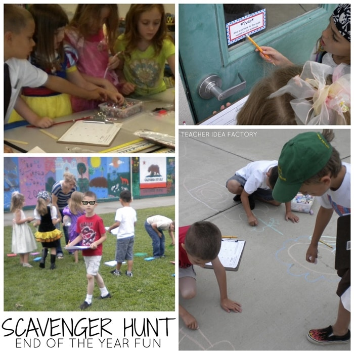 Easy Graduation Ideas for K-5 -Get your class up and moving with an end of the year scavenger hunt - Teach Junkie