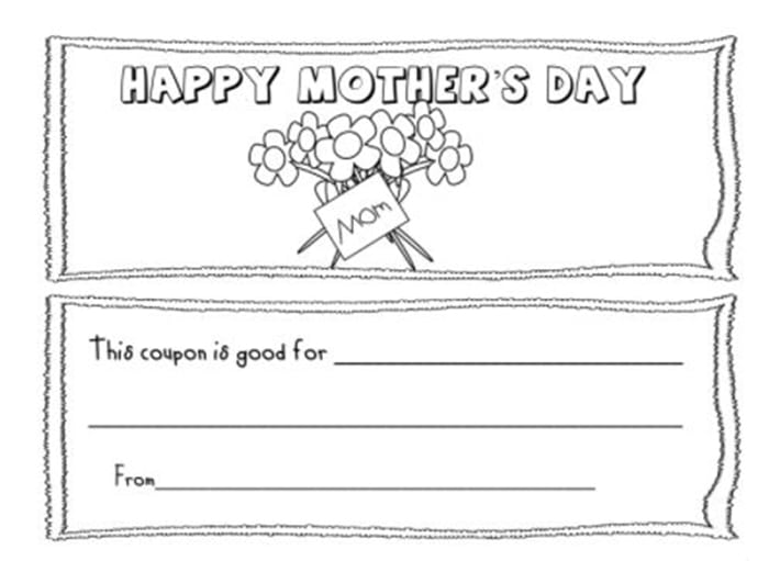 Easy Mothers Day Cards to Make in School - mothers day coupon books