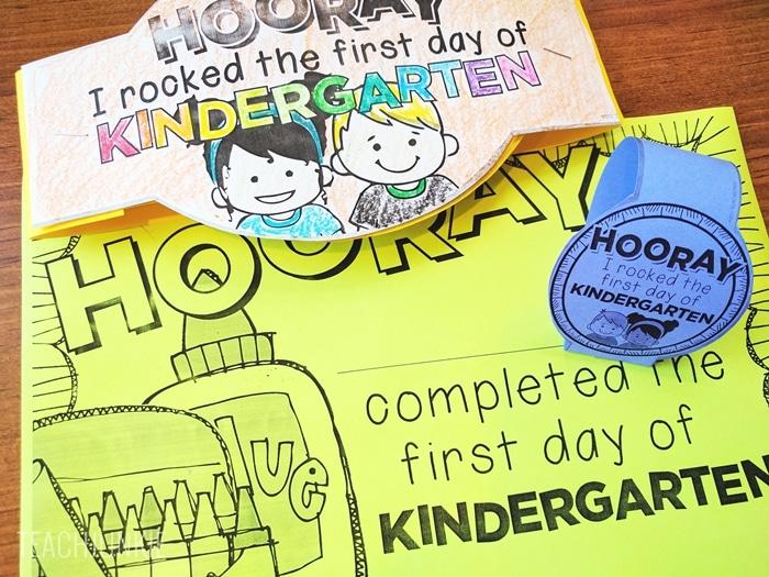 Editable First Day of School Certificates for kindergarten - free