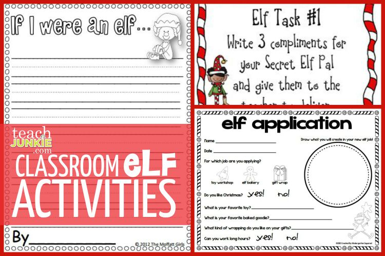 Elf Classroom Activities - TeachJunkie.com