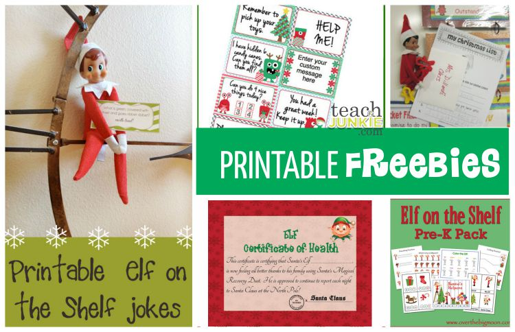 Elf Freebies - TeachJunkie.com