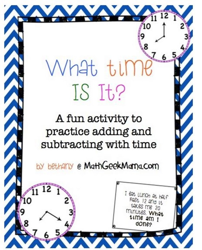 Fun Elapsed Time Clock Hunt Activity - Teach Junkie