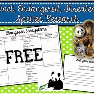 Research Project Organizer: Extinct, Endangered, Threatened Species