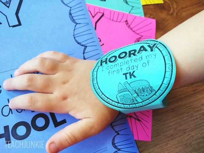 FREE First Day of School Bracelets - easy to tape or staple on