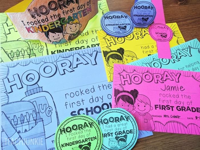 FREE First Day of School Certificates and Printables