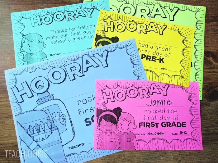 FREE First Day of School Certificates (Editable)