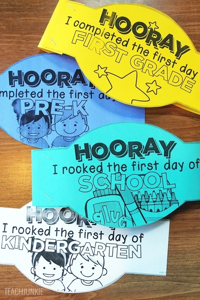 FREE First Day of School Headband Crowns - printable free headband toppers
