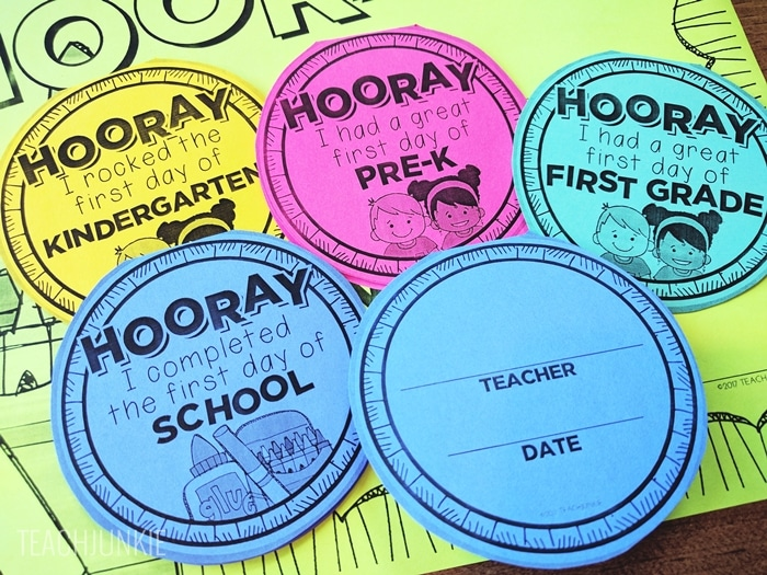 FREE First Day of School Necklaces (Editable) add the teacher name and date