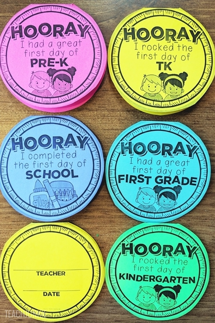 FREE First Day of School Necklaces (Editable) - super cute idea