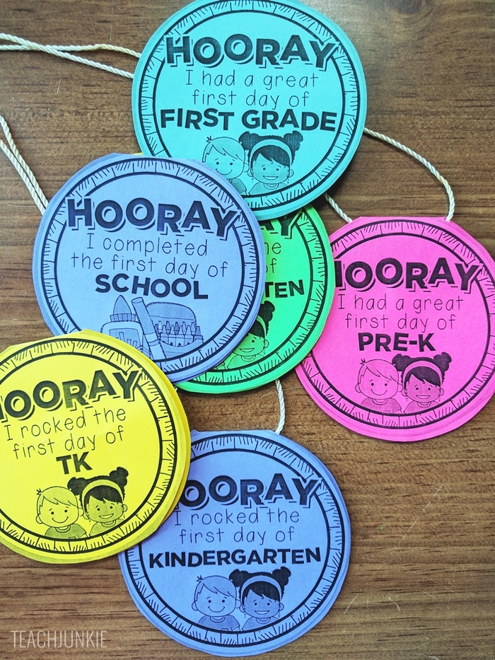 FREE First Day of School Necklaces - love these