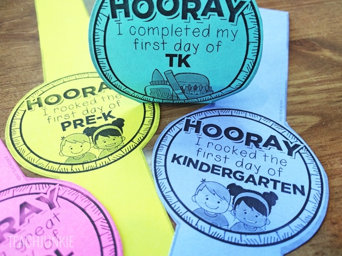 FREE printable First Day of School Bracelets