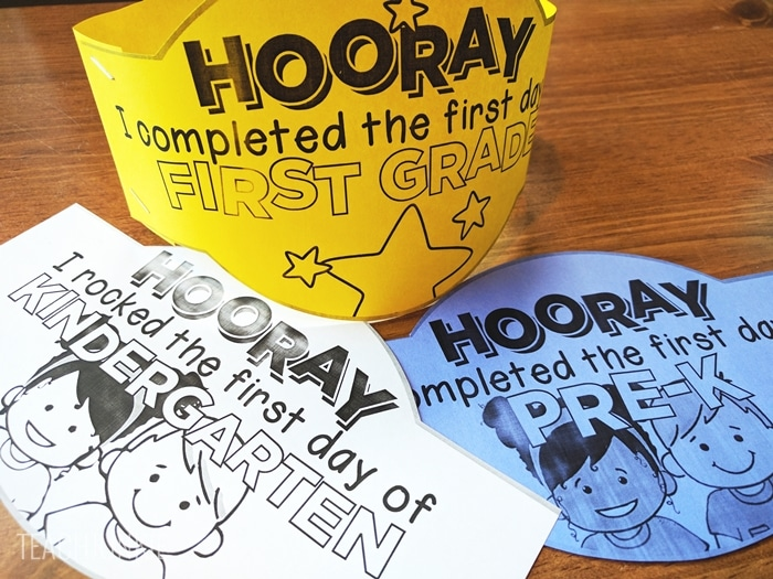 FREEBIE printable First Day of School Headbands