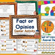 Free Fact or Opinion Printable Game