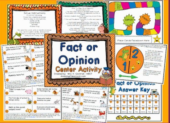 graphic regarding Printable Reading Games named Absolutely free Truth of the matter or Feeling Printable Sport - Educate Junkie