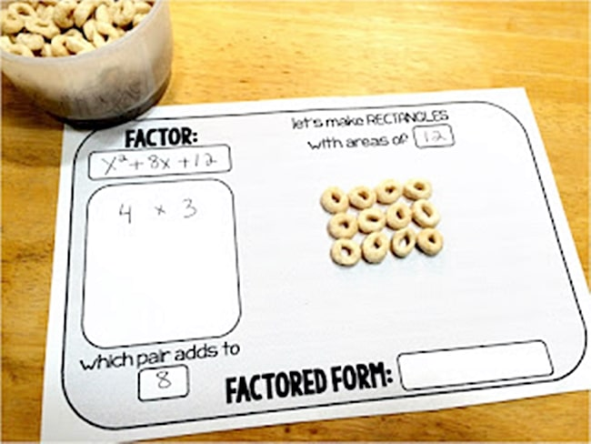 "Factoring With Cereal - 6 Ways to Teach ""the Hard Stuff"" with Food"