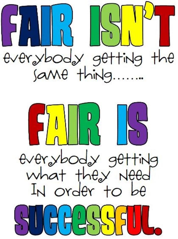 Fair isn't... Free Printable Classroom Poster