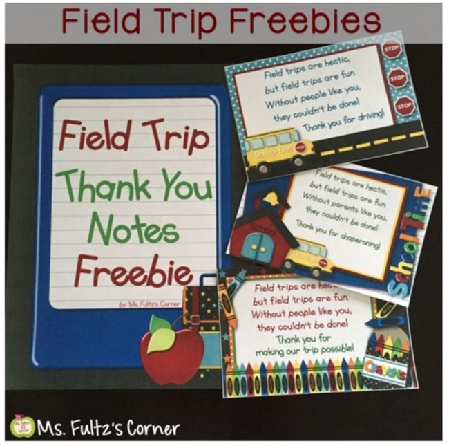 Printable Field Trip Thank You Notes - Teach Junkie