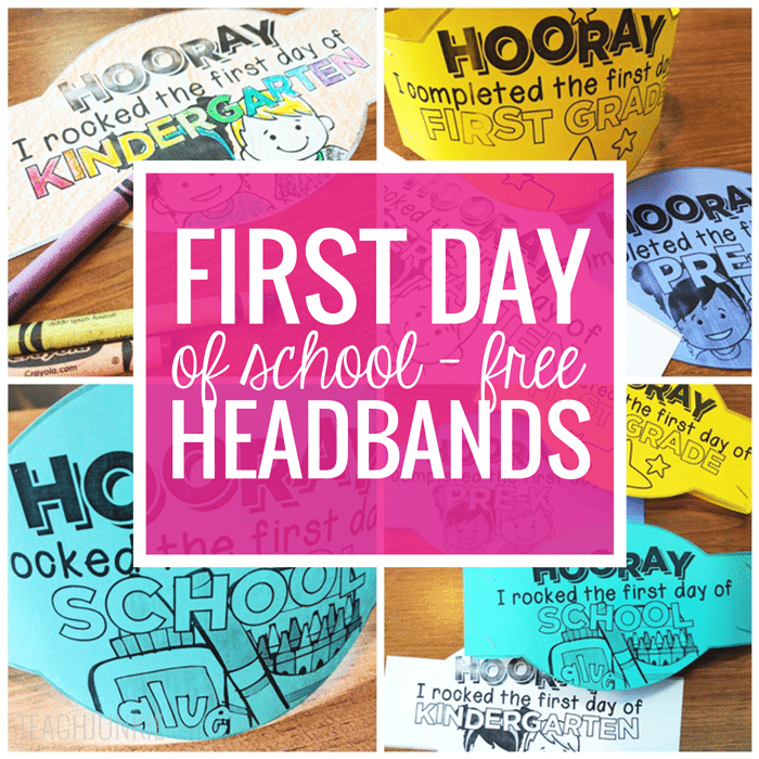 First Day of School Headband Crowns FREEBIE