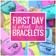 FREE First Day of School Bracelets