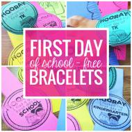 FREE First Day of School Bracelets