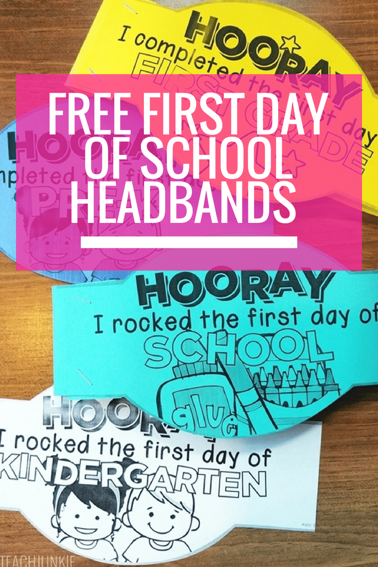 First day of school headband crowns free printable