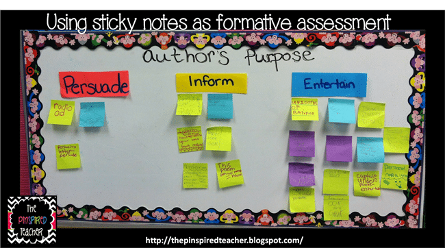 Formative Assessment Made Easier With Post-Its - Teach Junkie