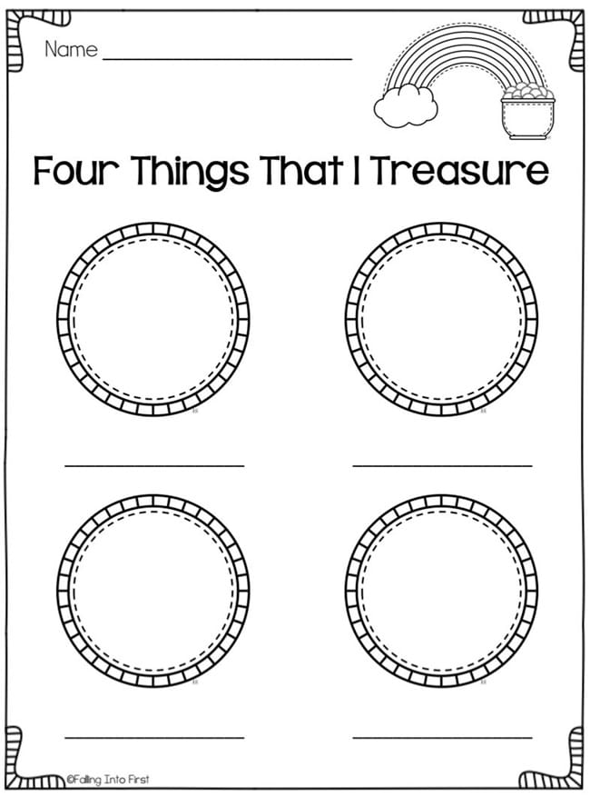 29 Zany St. Patrick's Day Learning Resources - Four Things That I Treasure - Teach Junkie