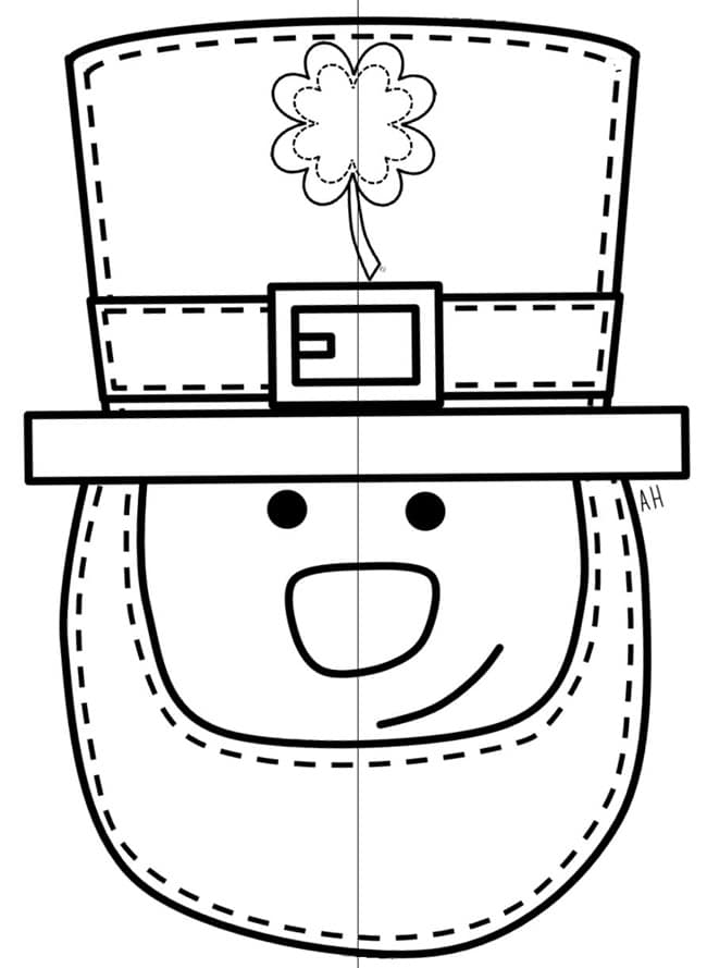 Universal image with leprechaun cut out printable