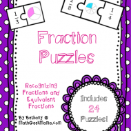 Fraction Math Puzzles {Printable}