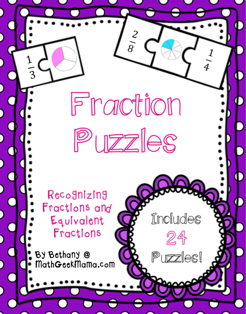 Fraction Math Puzzles {Printable} - Teach Junkie