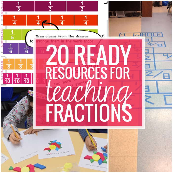 Fractions - 20 Ready to Go Resources and Activities
