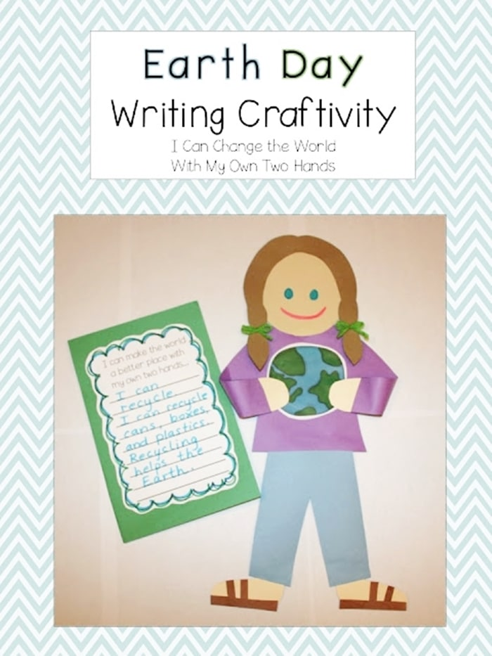 Free April Activities and Printable Resources - Earth Day craft and writing