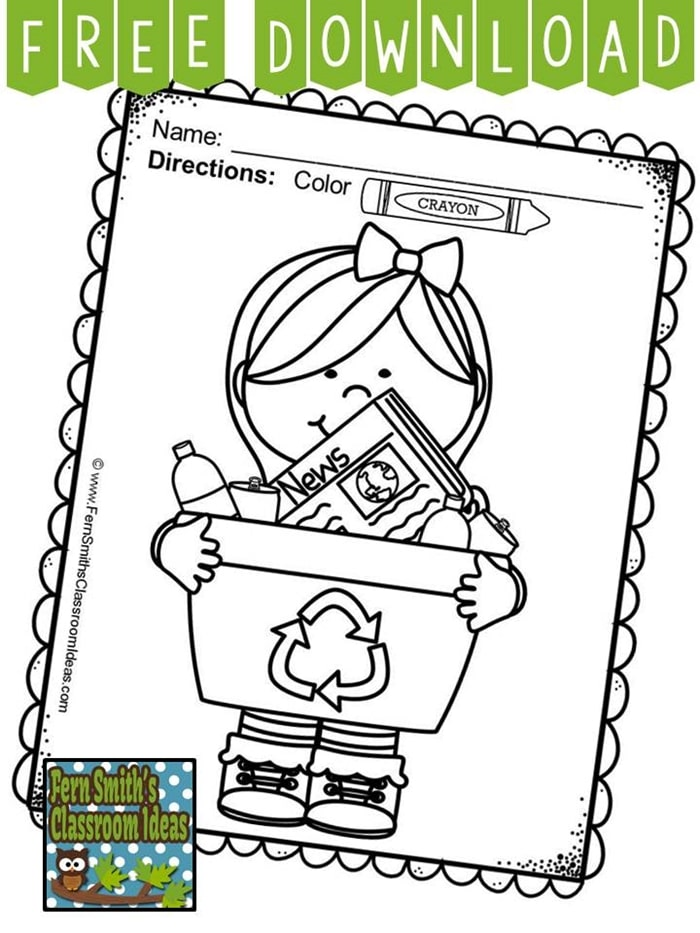 Free April Activities and Printable Resources - coloring page