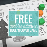 Camping Doubles Addition Roll 'n Cover Game