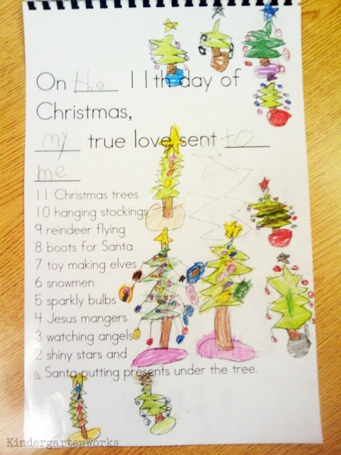 Free December Activities and Printable Resources - 12 Days of Christmas Template