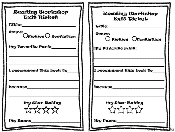 Free February Activities and Printable Resources - exit tickets