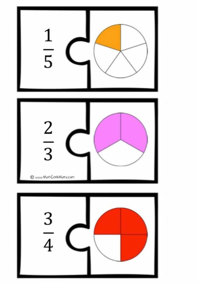 photo about Math Puzzles Printable named Portion Math Puzzles Printable - Prepare Junkie